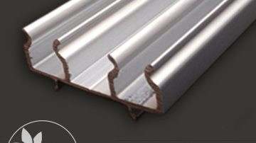 Aluminum profile split plastic