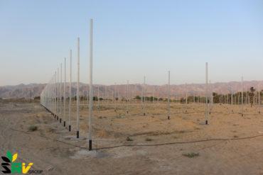 پایان ستون گذاری فاز اول پروژه سه هکتاری سبزی و صیفی، شهر خوزی، استان فارس